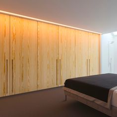Construction plywood panel / MDF / for interior - HONEY PINE ...