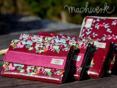 Geldbörsen aus Wachstuch von Amy Butler, Schnitt: machwerk (Grete und Portemonnaie)