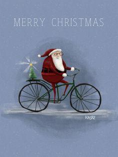 #santa on a bike! Merry Christmas to everyone.