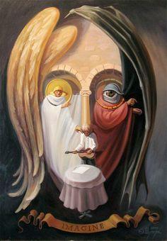 ТОнеТО | Удивительные картины-оптические иллюзии украинского художника (ФОТО) | Новости про товары, услуги, компании, технологии