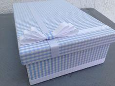caixa revestida Azul