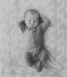 Cute picture. Catching the newborn in their common poses - the poses they frequented while in utero