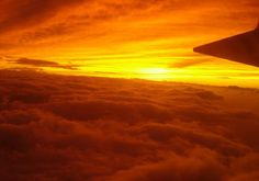 sunset from an airplane. love it.