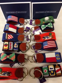 These Smathers  amp  Bronson needlepoint key fobs make for excellent  graduation gifts for the guys cc448423e9c7