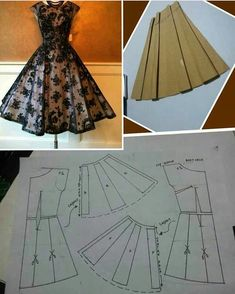 Oluwatoyin Bola's media content and analytics Doll Clothes Patterns, Clothing Patterns, Sewing Patterns, Circle Skirt Pattern, Dress Making Patterns, Hoco Dresses, Apron Dress, Dressmaking, Blouse Designs