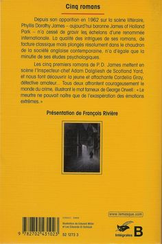Les Intégrales du Masque - P.D. James - Volume 1 - Verso - Novembre 2002