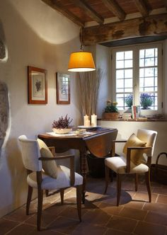 warm, cozy dining area...