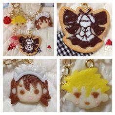 """Kaicho Wa Meidosama"" cookie bag charm"