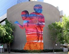 Karl Addison & James Bullough #globalstreetart #graffitiart #urbanartonline #murals #freewalls #graffitistreetart #urbanart #streetart #art #graffiti