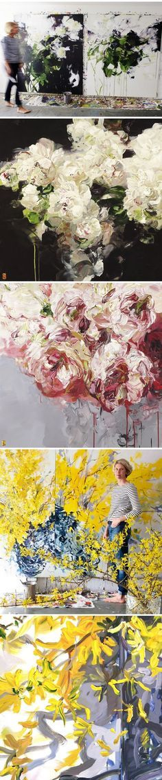 Bobbie Burgers' gorgeous abstract-ish floral paintings will have you wishing for peony season sooner than later.
