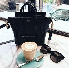 Celine Luggage, Celine Bag, Save From Instagram, Instagram Posts, Chocolate Coffee, Coffee Break, Art Pieces, Handbags, Tote Bag