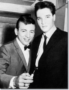 Bobby Darin and Elvis were good friends. Sandra Dee later said, 'Elvis was such a fine actor. He would come into read. Bobby and he were at the same lot when I was very pregnant.He would come in and say'Read this with me,you know they won't let me do this, I just wanted to hear if I could do it.'And God, could he do it! He used to come into Bobby's dressing room to talk to him because he was having a horrible time with pills and diets.Bobby told him, 'Screw them all, you can't go on like…