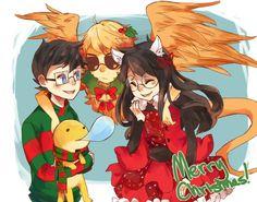 Christmas on the meteor (2011).   John Egbert, Casey, Davesprite and Jade Harley.