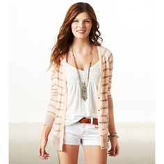 AE Striped Boyfriend Cardigan | American Eagle Out ($44.95)