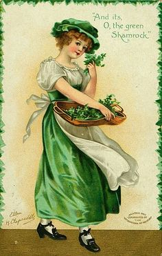 St Patricks Day Vintage Postcard