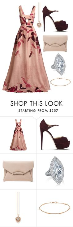 """""""ball"""" by starburst861 ❤ liked on Polyvore featuring Lela Rose, Brian Atwood, Givenchy, Thomas Sabo and Jennifer Meyer Jewelry"""