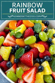 Rainbow Fruit Salad   Easy Fruit Salad   Healthy Fruit Salad #fruit #salad #healthy #dinneratthezoo