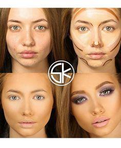 Contouring how to #beauty #makeup - http://dropdeadgorgeousdaily.com/