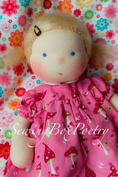 Waldorf doll - Waldorf inspired Baby doll - Poetry Baby - 12''