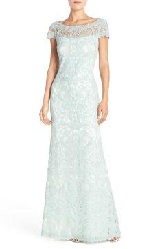 Tadashi Shoji Lace Column Gown (Regular & Petite) | Nordstrom