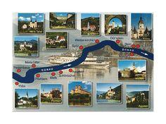 LOWER AUSTRIA - map of Wachau Valley, Austria - west of Vienna
