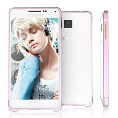 Luphie 0.7mm Screw-On Aluminium Alloy Metal Bumper Frame Case for Samsung Galaxy Alpha - Pink