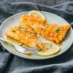 Here's the simplest foolproof recipe on how to bake cod! This lemon baked cod only takes 30 minutes total for prepping and baking, and has delicious lemon and parmesan cheese flavors.