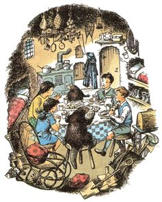 Dinner with the Beavers, Pauline Baynes