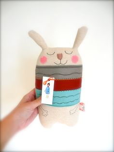 OOAK Quirky Rabbit Easter by KatyPillingerDesigns on Etsy, £16.00