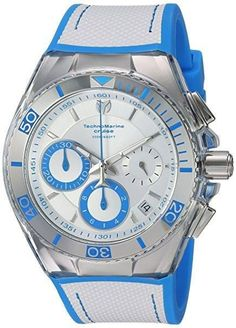 Technomarine TM-115337 Men's Watch White & Light Blue Cruise California Chronograph