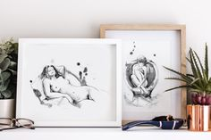 Do you love line art? In this wall art gallery you can see some of the art prints from this collection, where a fluid line represents through gesture drawing the beauty of the human body. Upgrade your home decor with an evergreen black and white collection of figure art!#figureart #figuredrawing #wallartdecor #homedecor #walldecor #wallartgallery Boho Bedroom Decor, Entryway Decor, Gesture Drawing, Feminist Art, Watercolor And Ink, Figure Drawing, Figurative Art, Human Body, Evergreen