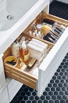 My Bathroom Vanity You can never have enough storage and the bathroom is no exception to this! In this article, I'll take you on a journey of how I added space to my bathroom vanity that was otherwise useless, dead space! I'll show you how I was able to maximize each drawer!