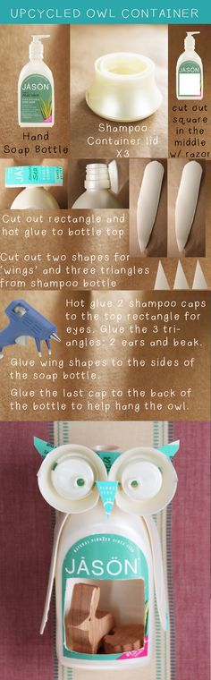 How to make the upcycled owl #DIY