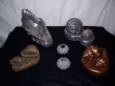 Various castings in resin-metal