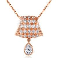 Barbara丨Surround AAA Cubic Zircon 18K Gold Plated Table lamp Pendants Necklaces