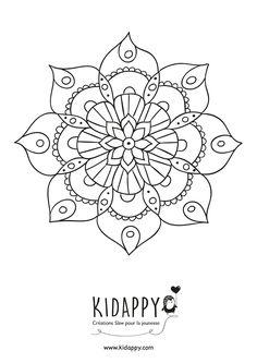 Mandala fleur – Kidappy