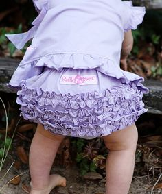 Another great find on #zulily! RuffleButts Lavender Ruffle Diaper Cover - Infant by RuffleButts #zulilyfinds