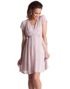 477d72cf56 Robe de maternité et d allaitement plissée rose blush