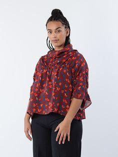 APLACE Ereen Shirt Brick/Red/Petrol - Marimekko