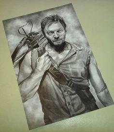 Walking Dead 28 x 44cm Poster Print. Zombie. Daryl Dixon. Norman Reedus. Don't Open Dead Inside. Rick Grimes. Michonne. Glenn