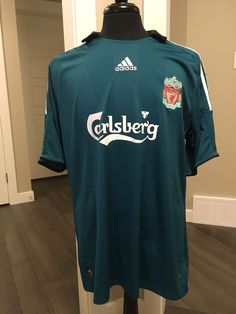 3128b58b71b LIVERPOOL FC Third jersey shirt ADIDAS THE REDS 2008-2009 adult SIZE XL