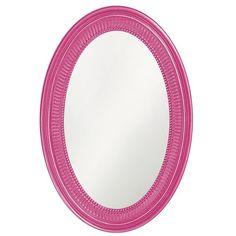 "Howard Elliott 2110HP Ethan 31"" x 21"" Hot Pink Mirror Hot Pink Home Decor Mirrors Lighting"