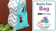 When Mikey crocheted the Beachy Keen Cover Up, I thought it would be fun to crochet a matching tote bag. I used the same Bernat Maker Home Dec yarn in Aqua.