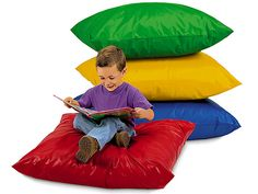 Lakeshore Dream Classroom Giant Comfy Pillows - Set of 4 for reading center
