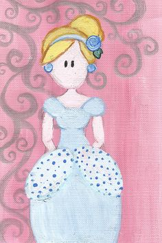Cinderella Original Illustration by maddierosedoodles on Etsy, $5.00
