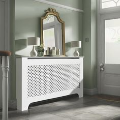 Richmond Large White Painted Radiator Cover | DIY at B&Q