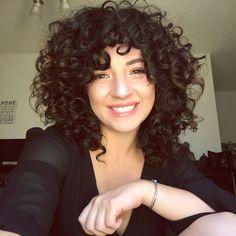 Medium Curly Hair With Bangs