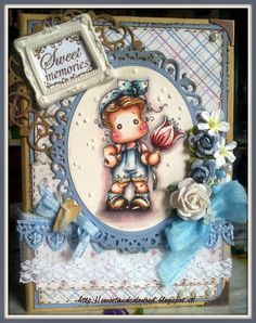 sweet and coloured: DT Timbroscrapmania # 101 Lace & Pearls