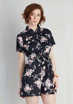 Sightseeing Essential Romper. When traveling, you loyally pack this navy romper to maximize the space of your suitcase - and style! #blue #modcloth
