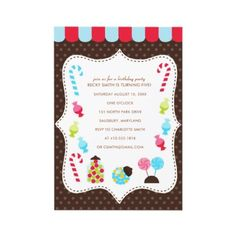 Dance recital invitation idea for Candy Theme